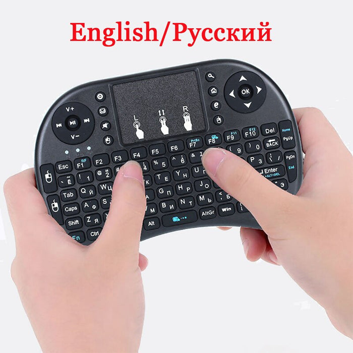 3 colour I8 Mini Wireless Keyboard 2.4Ghz English Russian Hebrew Version i8 Air Mouse