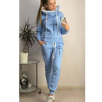 2019 Autumn Winter Women Sets Tracksuit For Women Long Sleeve Hoodie And Pants Two Piece