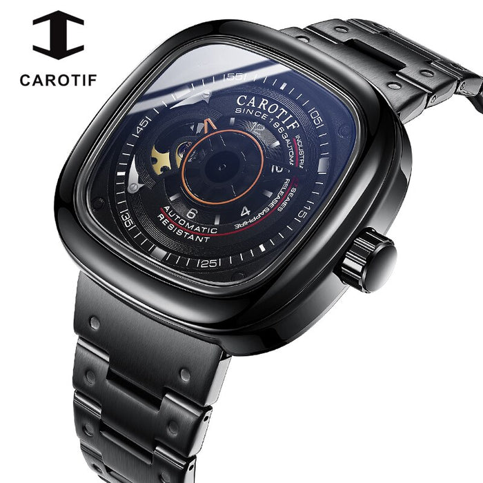 CAROTIF Business Automatic Watch Men Square Mens Mechanical Watches Male Top Brand Luxury