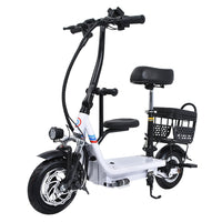 48V 8Ah/10Ah/12Ah Three Seat Electric Scooter 10 Inch Two Wheel Instead Of Walking City Mini Adult Electric Bike Bicycle EBike