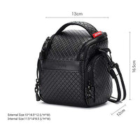 MCHENG Waterproof Shock Resistant Portable Digital Camera Bag with Durable Shoulder Strap