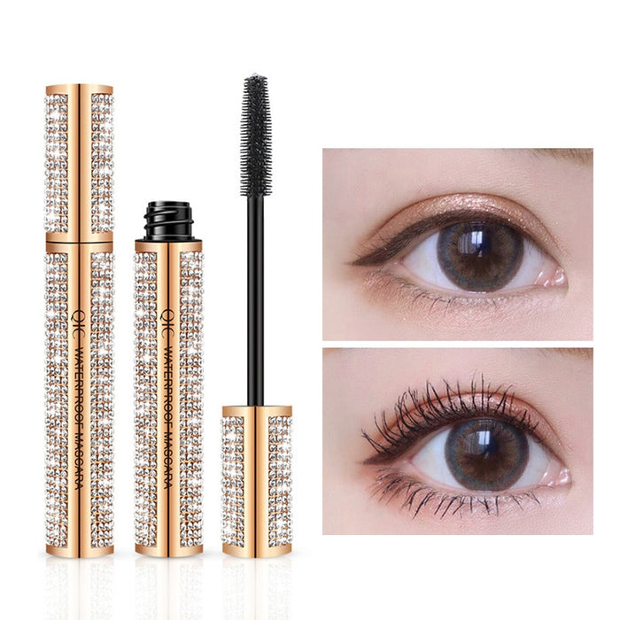 1Pc Rimel 3D Fiber Lash Diamond Mascara Waterproof Star Thick Black Mascara Girl Beauty Makeup
