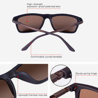Classic Men Polarized Driving Sunglasses Male Vintage HD Lens Square Aluminum Magnesium Sun Glasses Masculino Eyewear UV400