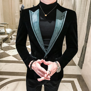 Blazer Masculino Slim Fit Man Self-cultivation Leisure Time Tide Blazer Hombre Business Affairs Suit Small Man's Suit Loose Coat