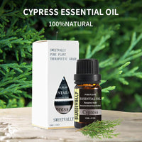 10ml Essential Oil For Diffuser Burner Organic Relieve Stress Air Freshening Humidifier Oil 100% Pure Cypress Natural Oil