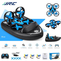 JJRC H36F Mini Drone Helicopter 2.4G 4CH 6-Axis Gyro Speed 3D Flip Headless Mode RTF Boat Car Water Ground Air Mode 3-mode