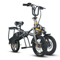 JX003 Good quality portable 350W 48V 8AH folding electric tricycle/electric scooter