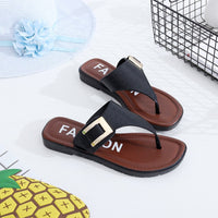 38# Women Summer Vintage Rome Slippers Casual Shoes Beach Female Slipper Sandals Summer Home Flat Flip Flops Shoes Scarpe Donna