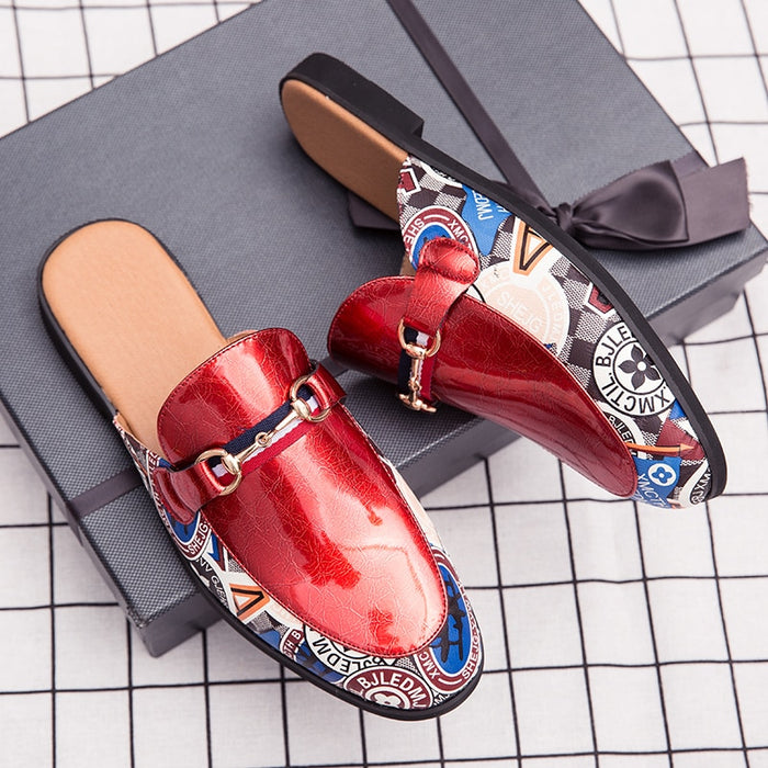 New men's pointed shoes, slippers two wear personality casual shoes, patent leather trend