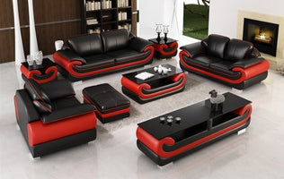 modern style  living room Genuine leather sofa 0797