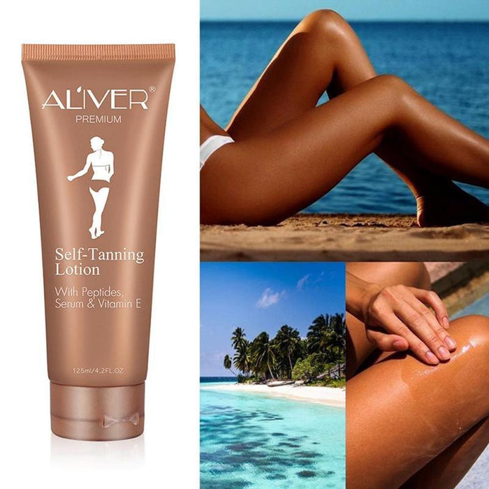 Self Tanning Cream Body Black Bronze Tanning Lotion Foundation Moisturizing Oil Control