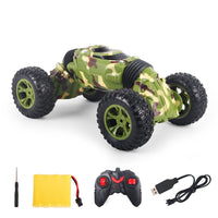 1:16 2.4GHz 4WD RC Stunt Car Electric Camouflage Color Double Side High-speed Climbing Twisting Off-Road Vehicle For Kids Gift