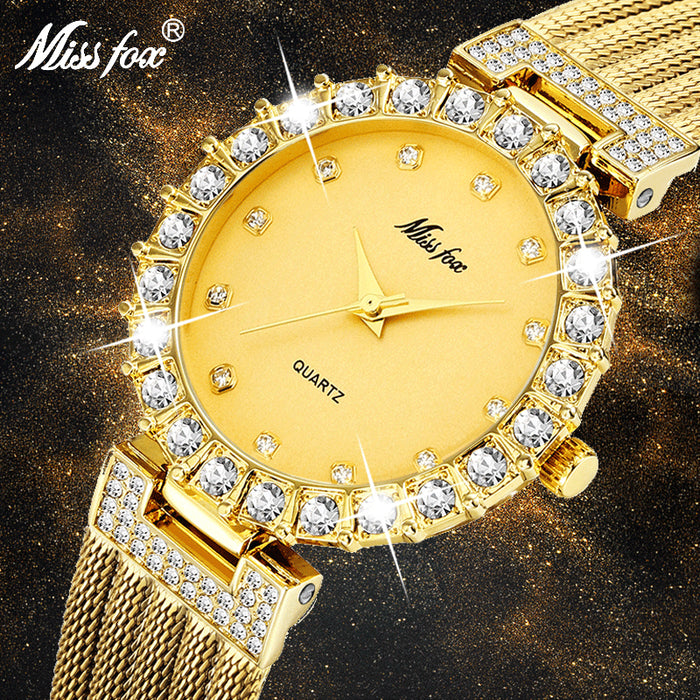 MISSFOX Women Watches Luxury Brand Watch Bracelet Waterproof Big Lab Diamond