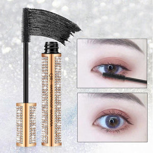 4D Silk Fiber Diamond Mascara Waterproof Not Blooming Long Black Thick Curling Fast Dry Thick And Durable Professional TSLM2