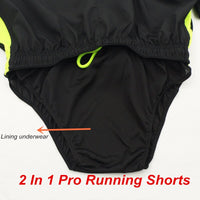 ARSUXEO Men's Running Shorts 2 in 1 Summer Quick Dry Marathon Shorts Gym Jogging Crossfit Fitness Sport Shorts with Waist Rope