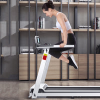 Factory Electric Treadmill Heart Rate Monitoring Exercise Walking Machine Running Training Fitness Equipment Folding Home Sports