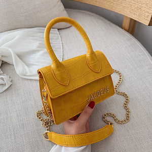 Alligator Pattern Small Ins Hot Handbags for Women 2019 New Tide Shoulder Bag Crossbody Mini Tote Bag Luxury Chain Messenger Bag