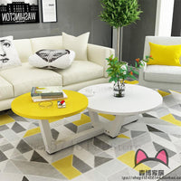 Coffee table modern minimalist living room round coffee table apartment simple mini table creative small coffee table Nordic