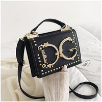 High Quality Pu Shoulder Bag Soft  Multi Color  Famous Designer Handbag Female 2019 New Fashion Rivet Crossbody Bag Bolsa FSD223