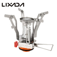 Lixada Camping Gas Stove Super Lightweight Mini Pocket Outdoor Cooking Burner Folding Camping Gas Stove 3000W
