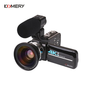 KOMERY 4K Video camcorder 48MP WIFI Live Streaming Vlogging For Youbute Landscape Touch Screen Night Vision Digital Zoom Camera