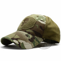 LIBERWOOD Punisher Skull Multicam Operator Cap Men Mesh summer Fitted Tactical Cap Special