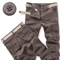 Men's Four Seasons Hiking Pants Loose Straight Multi-pocket Sweatpants Outdoor Fishing
