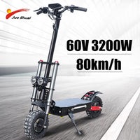 Electric Scooter for adult 52V'60V Work Off Road Ebike Foldable Electric Skateboard freetax Safe Double Motor Battery Scooter