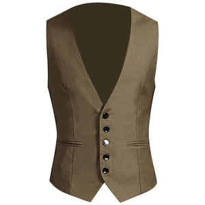 2019 New Dress Vests For Men Slims Fit Mens Suit Vest Male Waistcoat Gilet Homme Casual Sleeveless Formal Business Jacket Vests