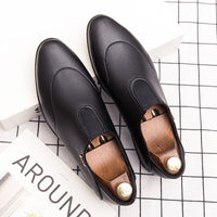 elegant formal leather shoes men italian vintage dress male footwear gentlemen wedding moccasins designer oxford shoes for men