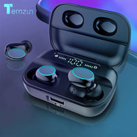 HBQ Touch Bluetooth V5.0 Earphone Portable TWS Wireless Mini Earbuds 3D Stereo Headset 3500mAh As Power Bank With LED Display
