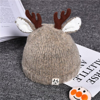 Christmas Knitted Hat Baby Elk Ears Beanie Cap Toddler Winter Warm Hat Christmas Photography
