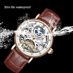 KINYUED Steampunk Chronograph Watch Men Automatic Sport 44mm Mechanical Wristwatch Luxury Brand Watches otomatik erkek kol saati