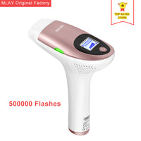 Free shipping MLAY Electric IPL &Laser Epilator Permanent Painless Hair Removal Face Body Armpit Bikini Device FDA 500000 shots