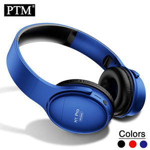 PTM Wireless Headphones Bluetooth Headsets Over ear Foldable Headphone with Mic Bluetooth 5.0