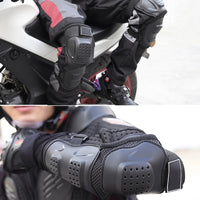 4Pcs/set Adjustable Motorcycle Elbow Protector Knee Pads Safety Protective Gear Moto Accessories