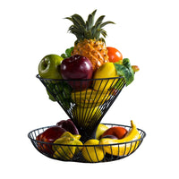 Household double-decker fruit basket living room stylish fruit dried fruit plate modern kitchen fruit and vegetable basket
