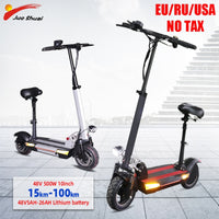 10inch 48V 500W Adult Electric Scooter Seat 100km Long Distance Fat Tire Electric Skateboard LCD Display Electrico Patinete
