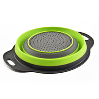 Folding Strainer Bowl Outdoor Camping Tableware Sets Silicone Folding Colander Strainer