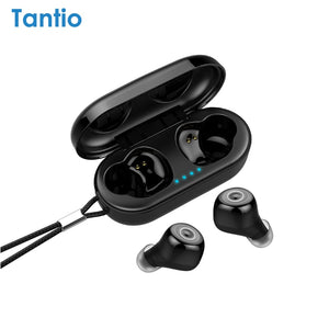 Tantio T1 TWS Bluetooth Earphone Cat Eyes LED Lights Touch Control IP67 HD Stereo Wireless Headphones