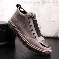 2019 Men Rivet Shoes Casual Mens Sneakers Shoes Fashion Tenis Feminino Light Breathable  Shoes Man Wild Increase within Sneakers