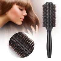 New Solid Wood Tube Hair Round Brush Comb Heat Resistant Anti-Static Hairdressing Hair Styling Curling Comb For Hairdresser l