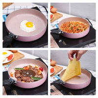 BAYCHEER Japanese Style Frying Pan Maifan Stone Aluminum Alloy Non-stick Steak Omelette Pan Dishwasher Safety Kitchen Cookware