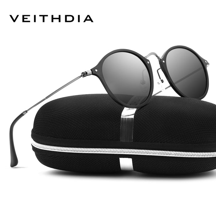 VEITHDIA Brand Designer Fashion Round Unisex Sun Glasses Polarized Coating Mirror