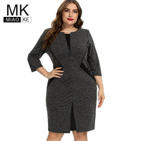 2020 autumn womens Plus Size Vintage Dress fashion Ladies elegant dresses 4XL 5XL 6XL