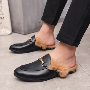 Men's Sneakers Teen Personality Baotou Plus Hair Half-Shoes Men Shoes Loafers Men's Moccasins Tenis Masculino Zapatos De Hombre