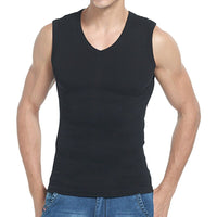 Fitness Casual Wear Tanks Men Wear Undershirt V-neck Sleeveless Solid Breathable Cotton Tank Tops 2019 Summer