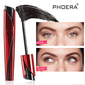 PHOERA High Definition 9D Mascara Silicone Brush Flexible Waterproof Extension Rimel Thick Lengthening for Eyelash Makeup TSLM1