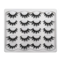 SHIDISHANGPIN 10 pairs lashes False Eyelashes Mink Eyelashes Mink Lashes Natural Dramatic