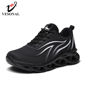 VESONAL 2020 Spring Lightweight Thick sole hip hop Sneakers Men Shoes Casual Breathable Comfortable Male Walking Footwear street